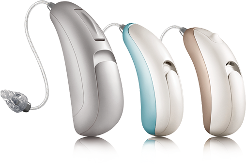 Three hearing aids